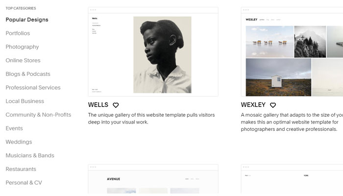 wordpress vs squarespace templates