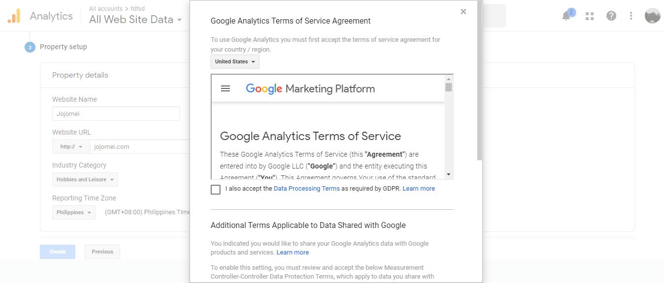 google analytics setup